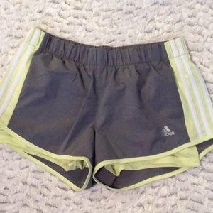 Adidas gray running shorts
